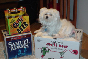 Thor still healthy and guarding the party beer!