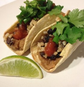 Tabitha made wild rice tacos for her family!