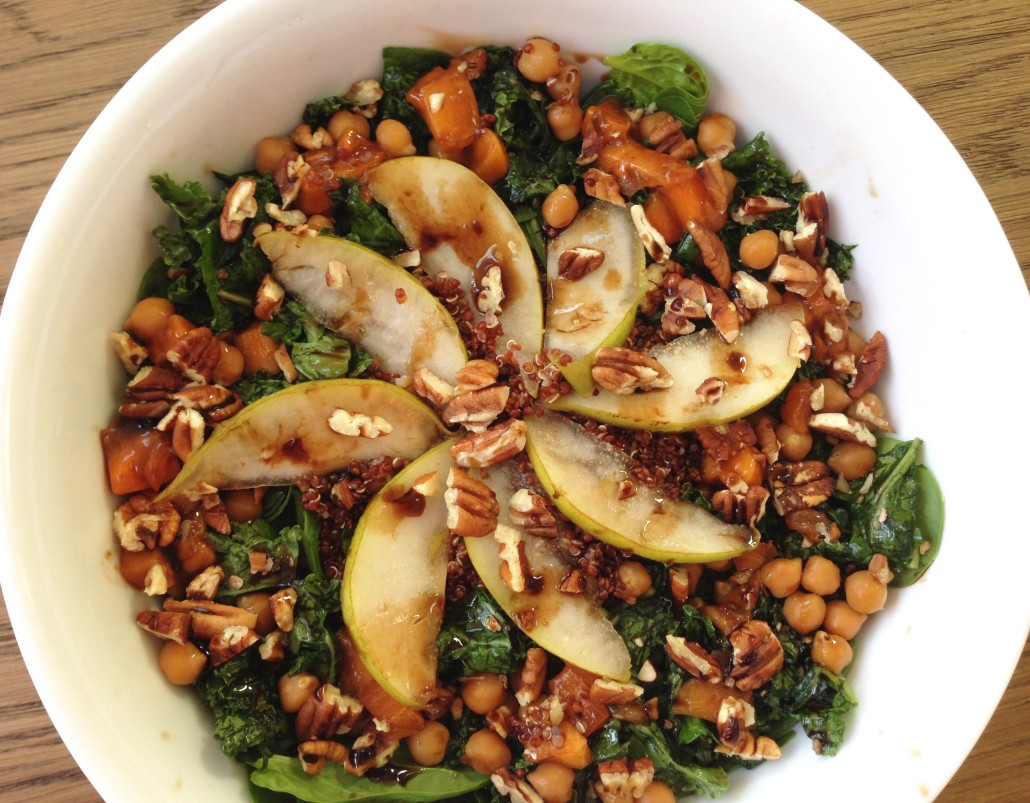Quinoa Salad with Spinach and Pears - Edible Musings